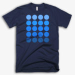 'Circles' Men's Designer T-shirt in Navy - CovertSubvert