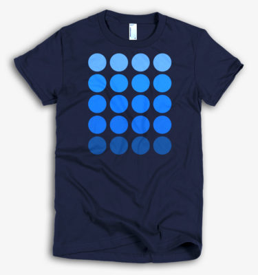 'Circles' Women's Designer T-shirt in Navy - CovertSubvert